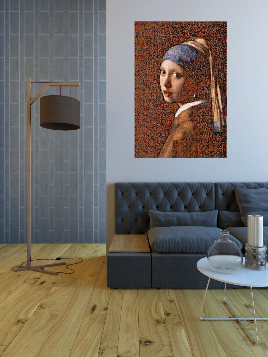 The girl with the pearl earring - Tribute to Vermeer