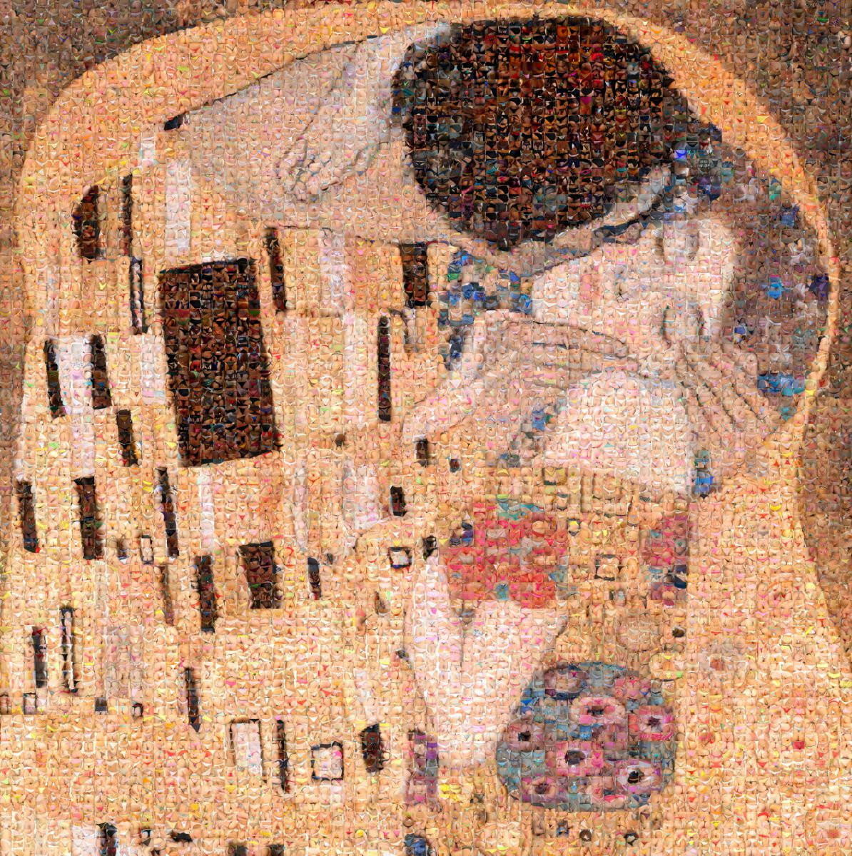 The Kiss - Tribute to Klimt